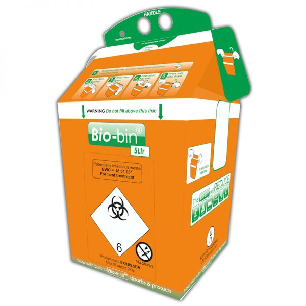BIO-BIN 5 LITRE ORANGE
