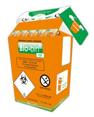 BIO-BIN 1 LITRE ORANGE