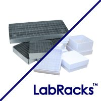 Vertical LabRacks™ for Storage Boxes and Trays